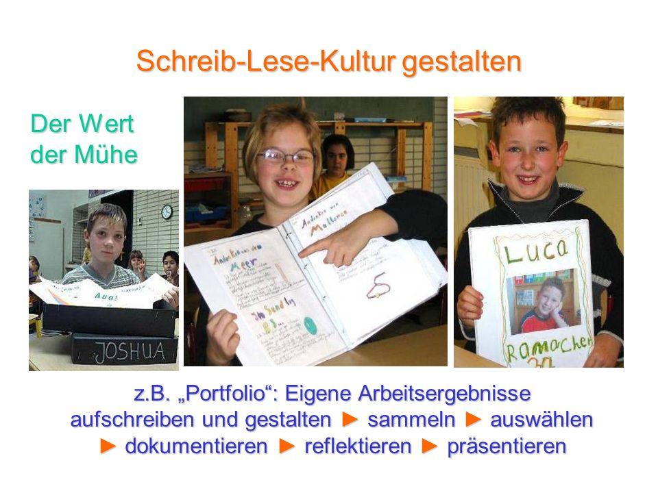 Schreib-Lese-Kultur gestalten