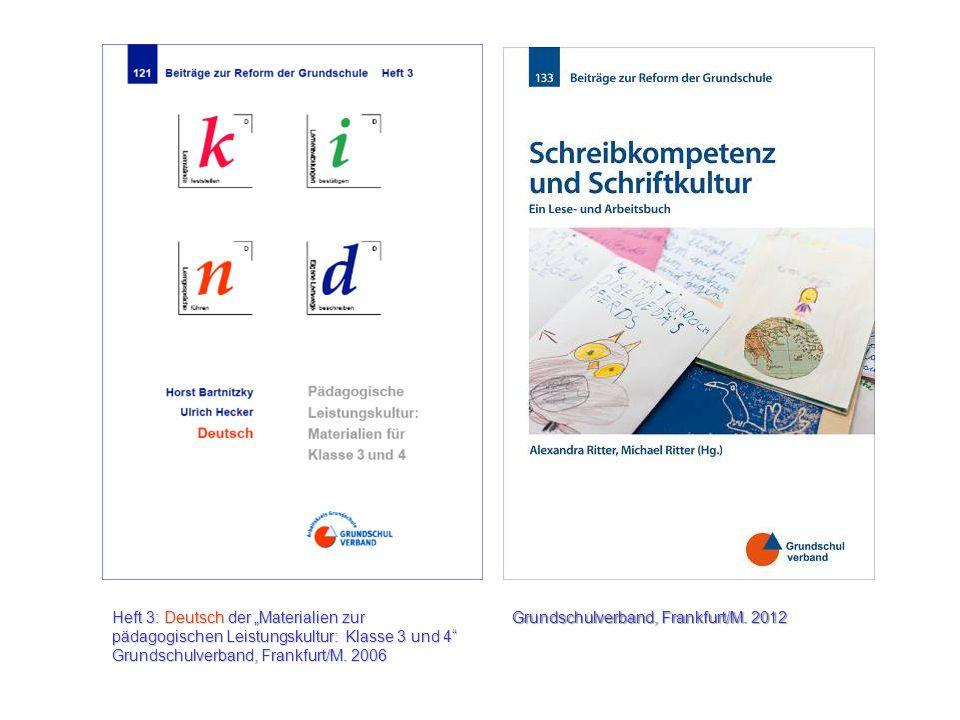 """Heft 3: Deutsch der """"Materialien zur pädagogischen Leistungskultur: Klasse 3 und 4"""
