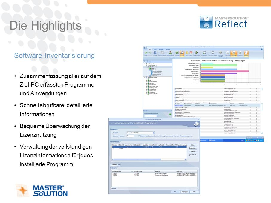 Die Highlights Software-Inventarisierung
