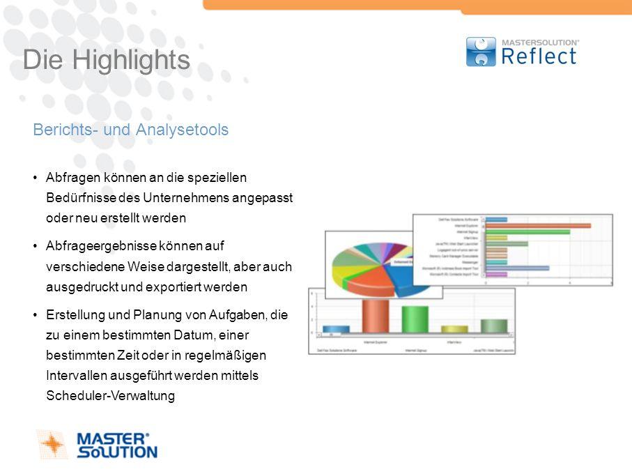 Die Highlights Berichts- und Analysetools