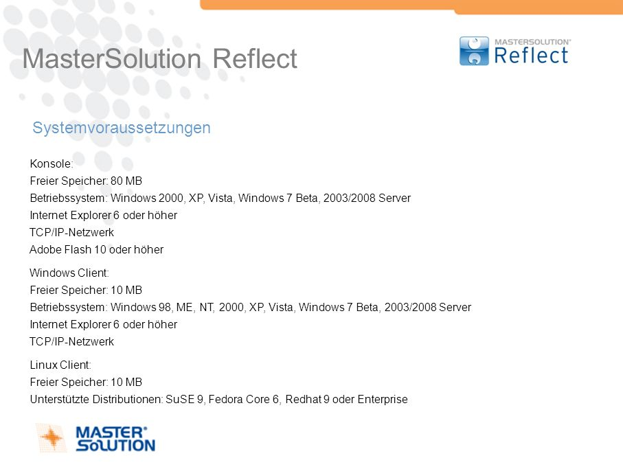 MasterSolution Reflect