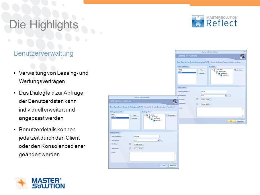 Die Highlights Benutzerverwaltung