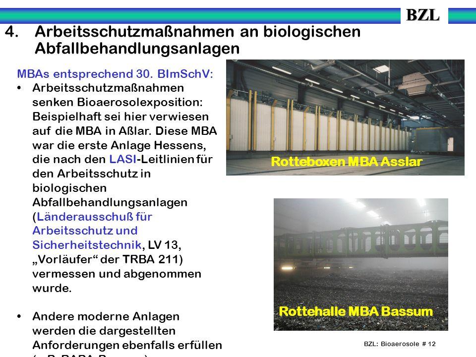 4. Arbeitsschutzmaßnahmen an biologischen Abfallbehandlungsanlagen