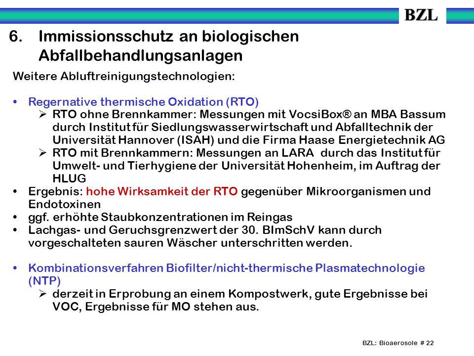 6. Immissionsschutz an biologischen Abfallbehandlungsanlagen