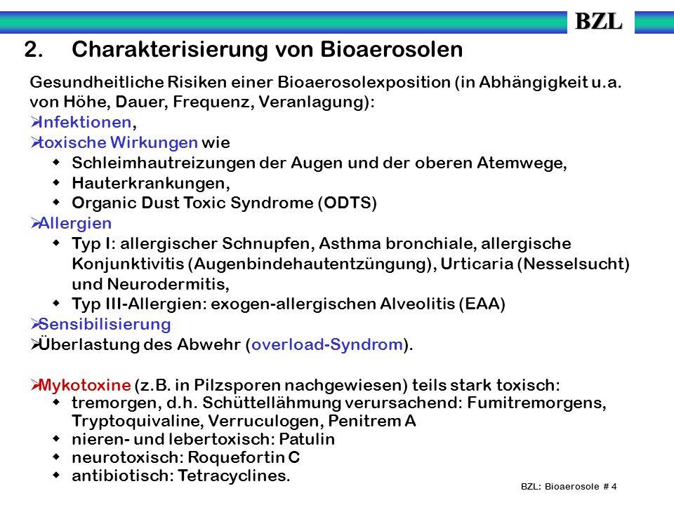 2. Charakterisierung von Bioaerosolen