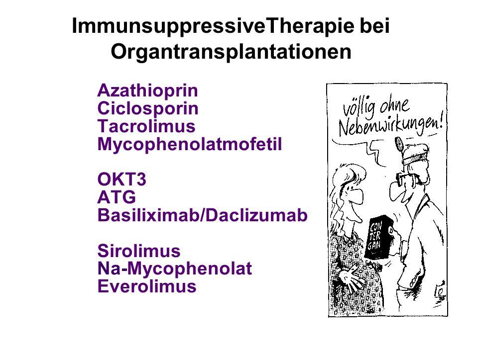 ImmunsuppressiveTherapie bei Organtransplantationen