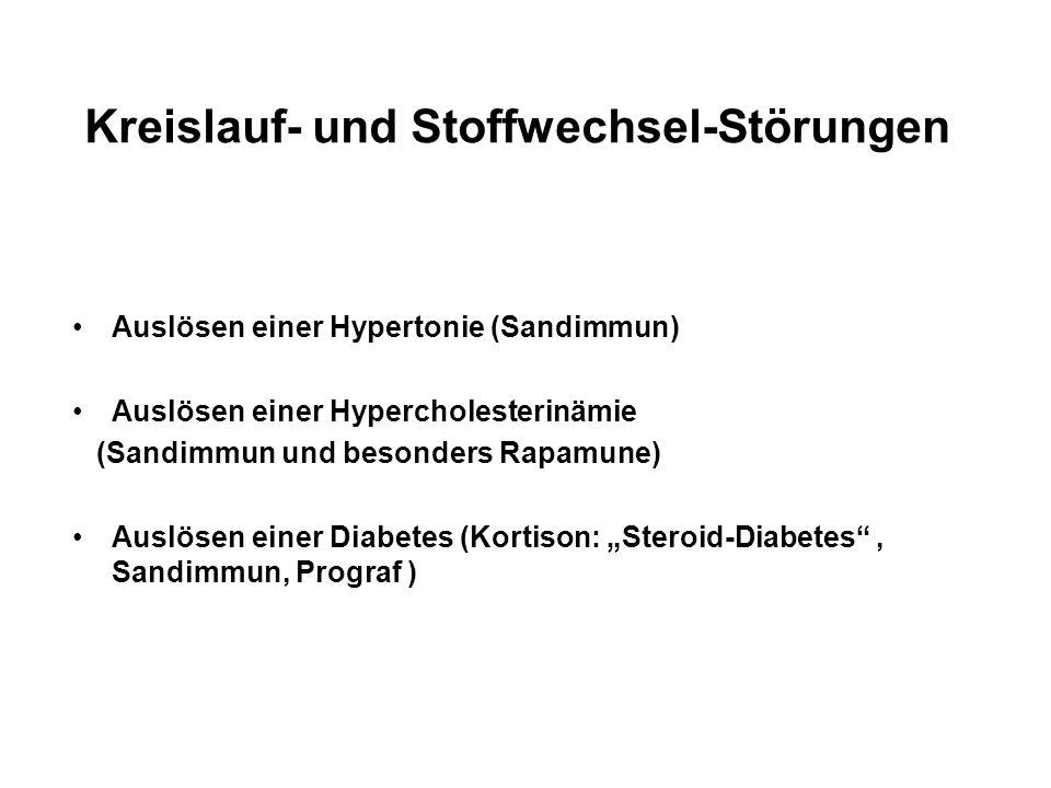 Kreislauf- und Stoffwechsel-Störungen