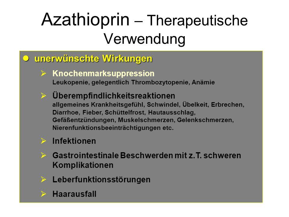 Azathioprin – Therapeutische Verwendung