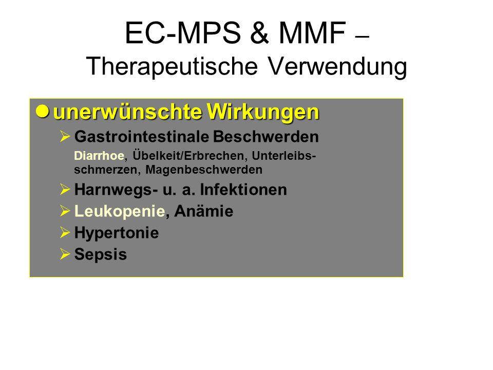 EC-MPS & MMF – Therapeutische Verwendung