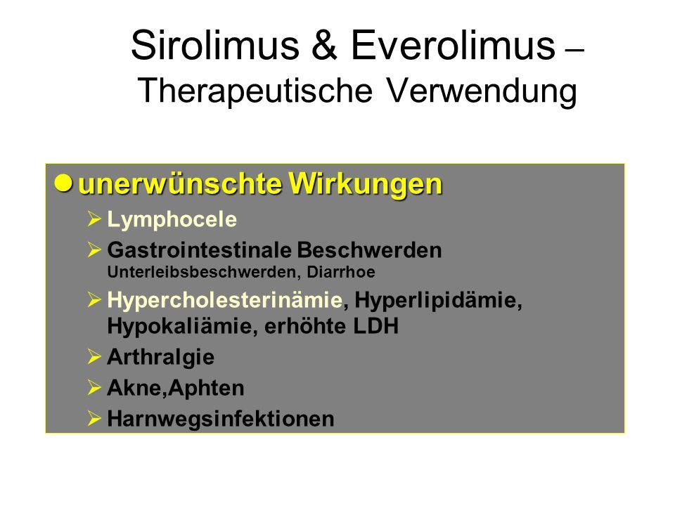 Sirolimus & Everolimus – Therapeutische Verwendung