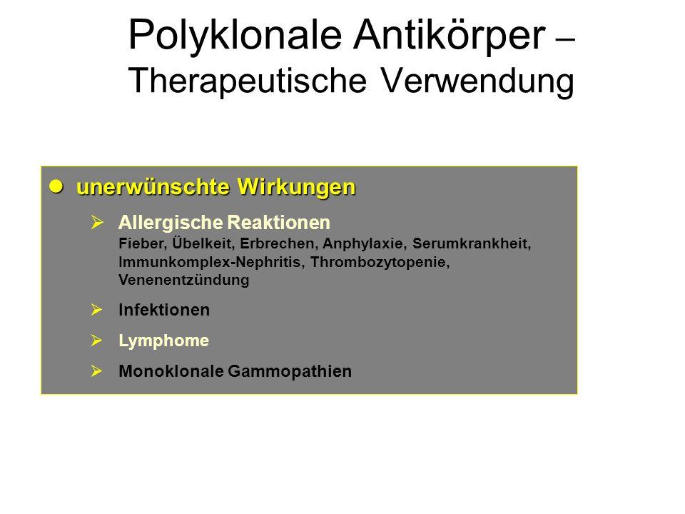 Polyklonale Antikörper – Therapeutische Verwendung