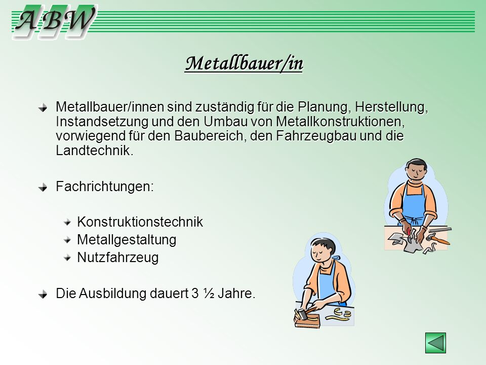 Metallbauer/in