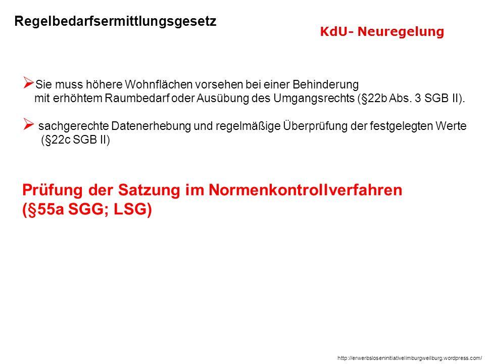 Prüfung der Satzung im Normenkontrollverfahren (§55a SGG; LSG)