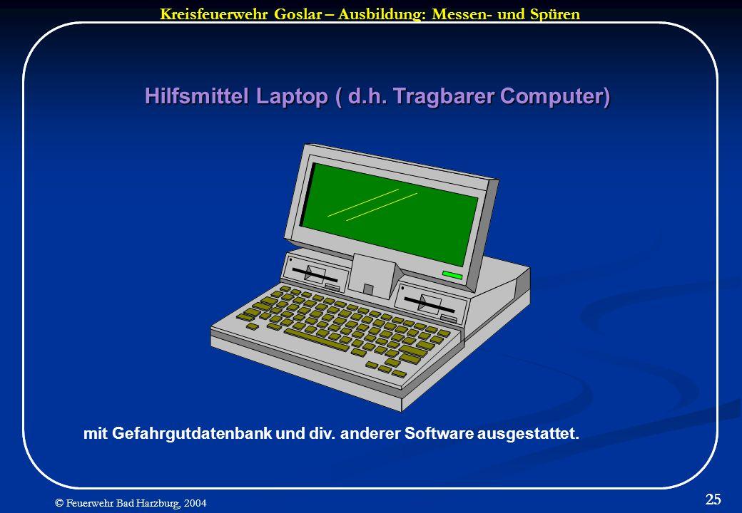 Hilfsmittel Laptop ( d.h. Tragbarer Computer)