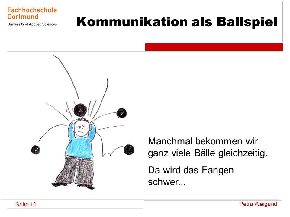 Kommunikation als Ballspiel