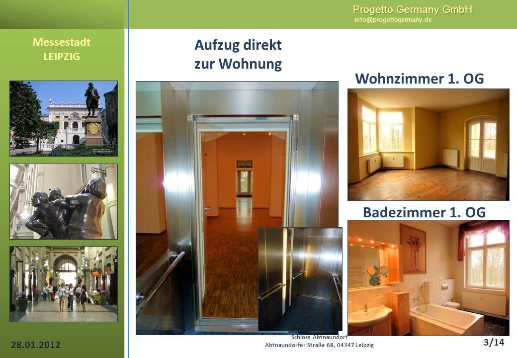 Aufzug direkt zur Wohnung Badezimmer 1. OG