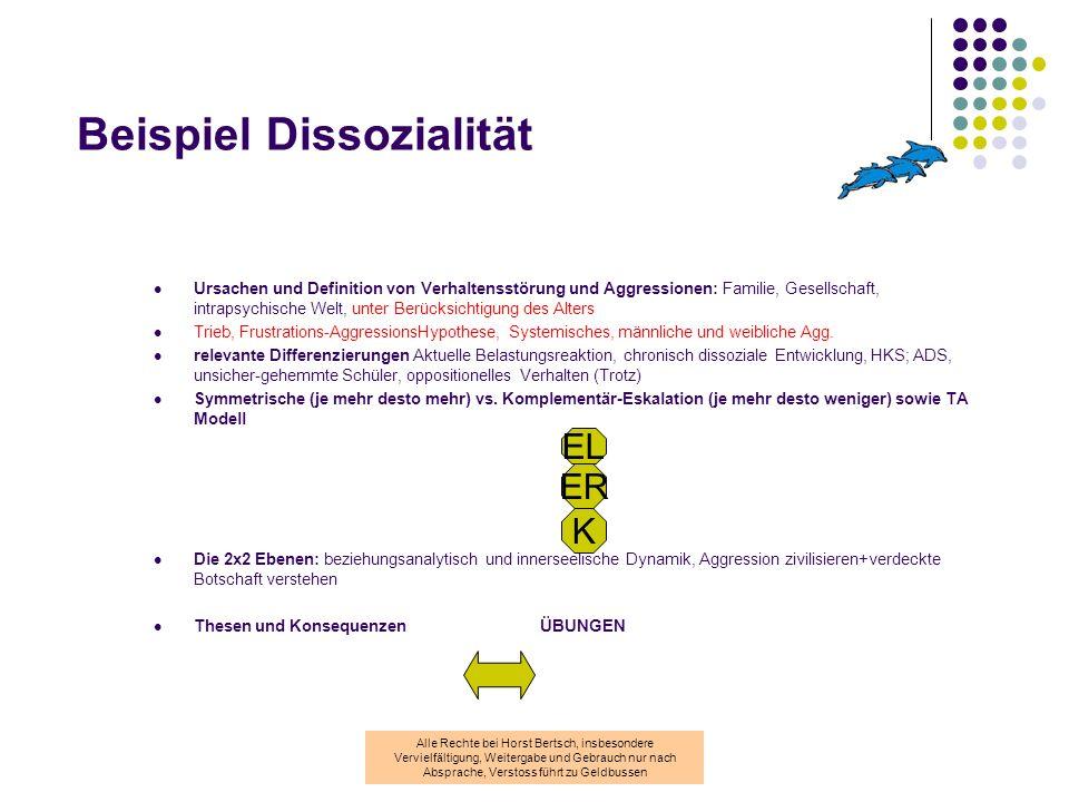 Beispiel Dissozialität
