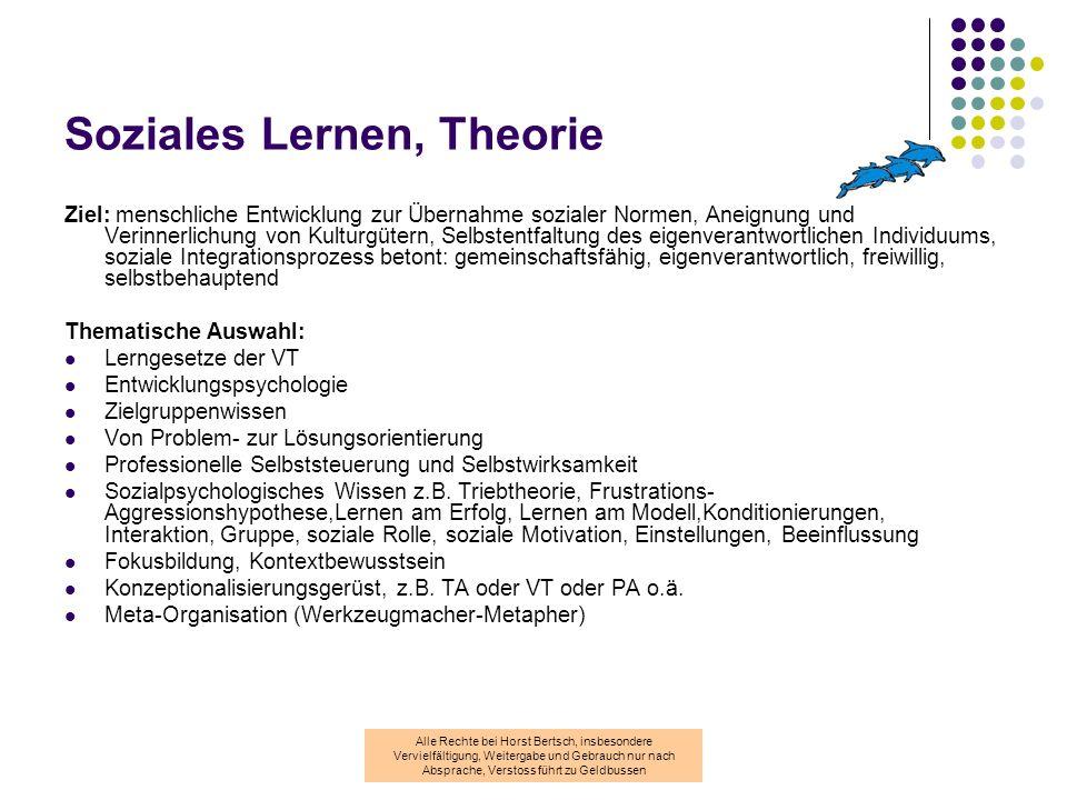 Soziales Lernen, Theorie