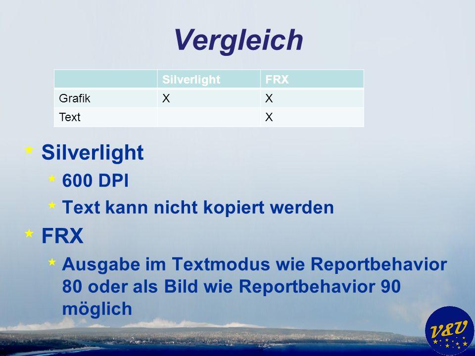 Vergleich Silverlight FRX 600 DPI Text kann nicht kopiert werden