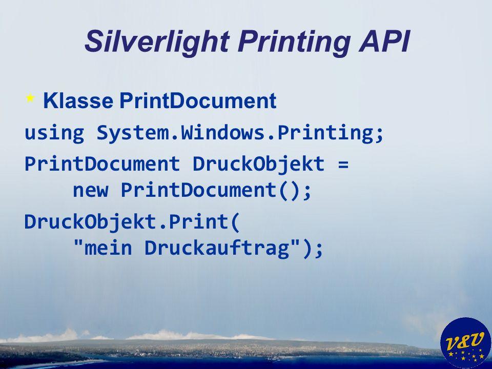 Silverlight Printing API