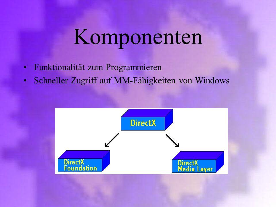 Komponenten Funktionalität zum Programmieren