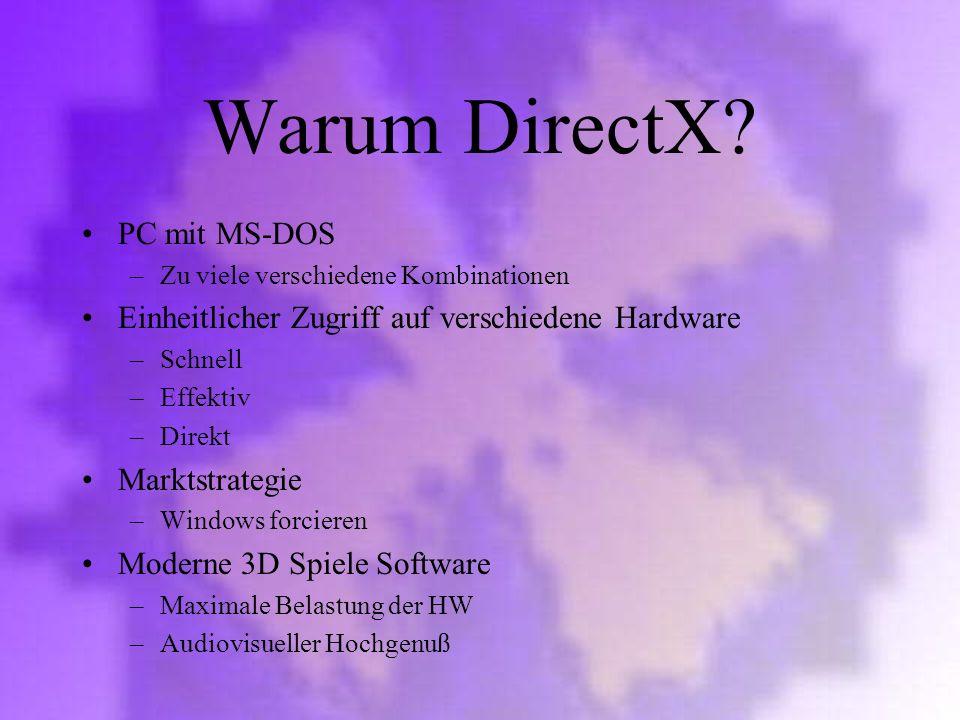 Warum DirectX PC mit MS-DOS