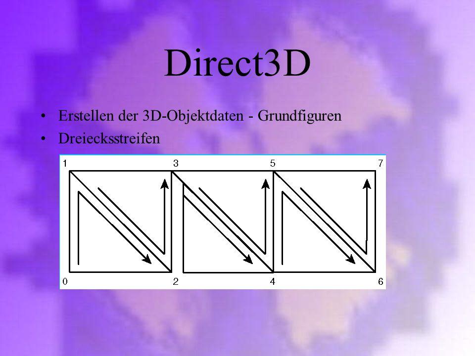 Direct3D Erstellen der 3D-Objektdaten - Grundfiguren Dreiecksstreifen