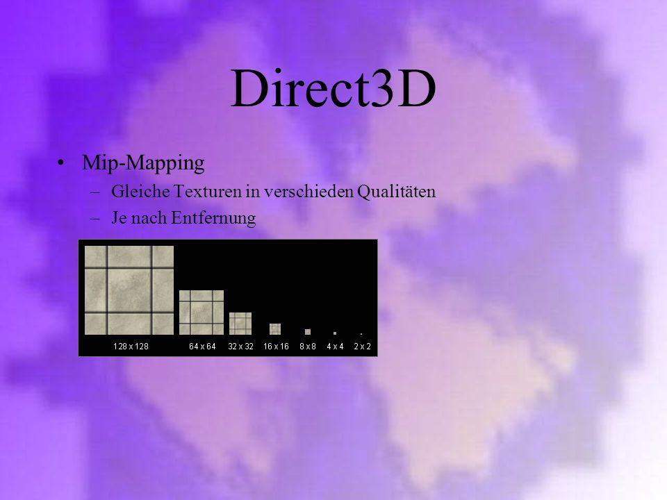 Direct3D Mip-Mapping Gleiche Texturen in verschieden Qualitäten