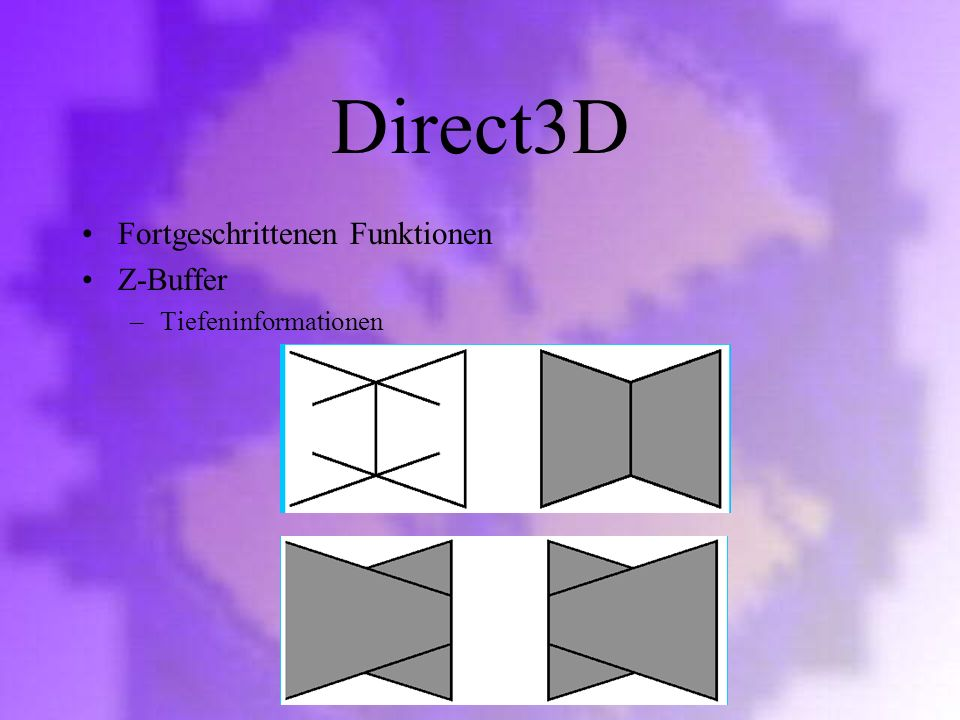 Direct3D Fortgeschrittenen Funktionen Z-Buffer Tiefeninformationen