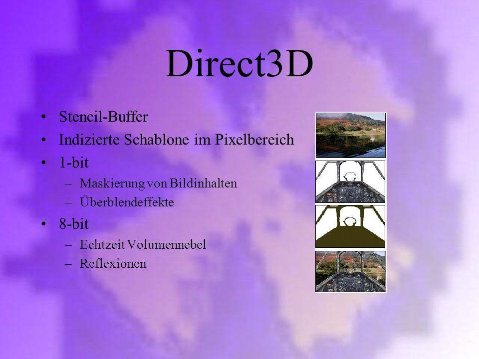 Direct3D Stencil-Buffer Indizierte Schablone im Pixelbereich 1-bit
