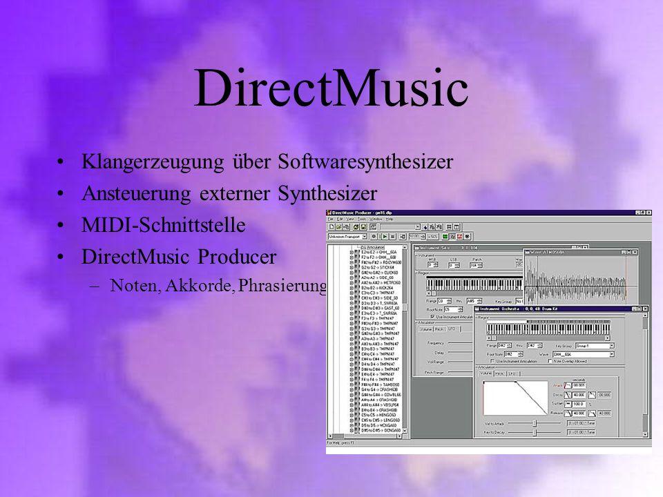 DirectMusic Klangerzeugung über Softwaresynthesizer
