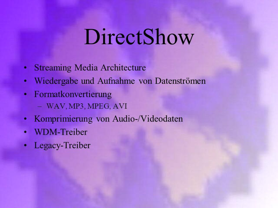 DirectShow Streaming Media Architecture