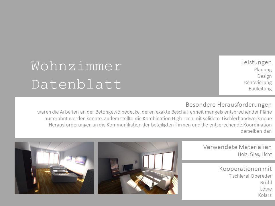 Wohnzimmer Datenblatt