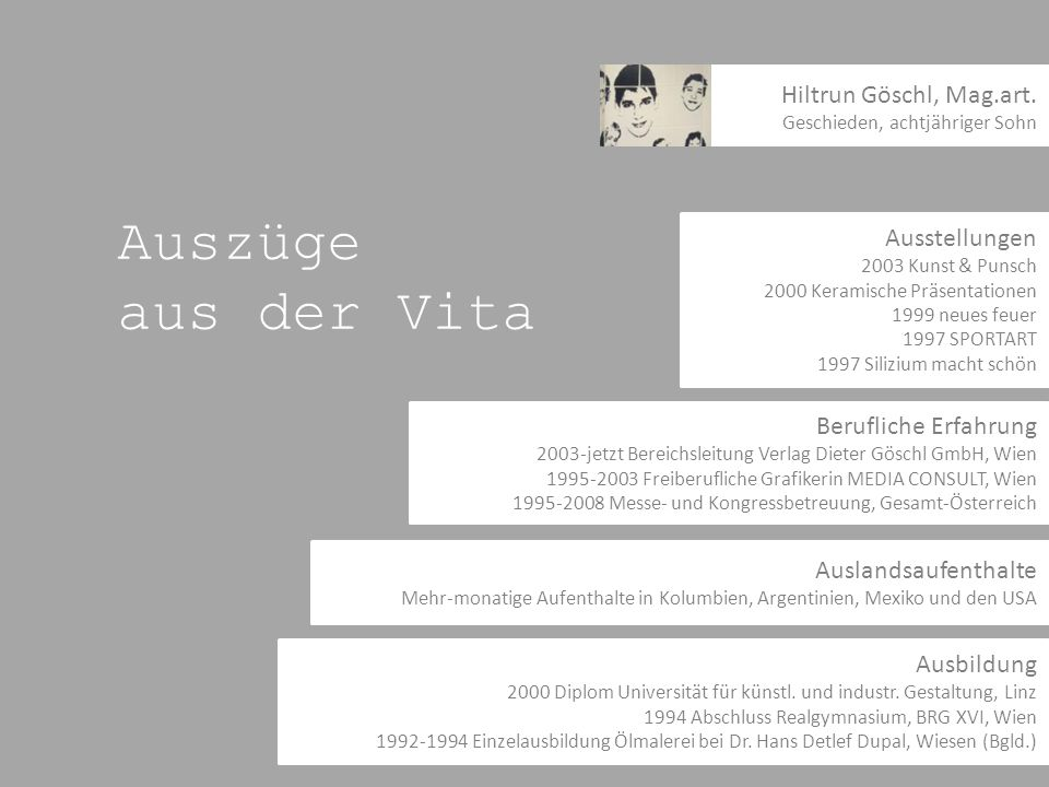 Auszüge aus der Vita Hiltrun Göschl, Mag.art. Ausstellungen