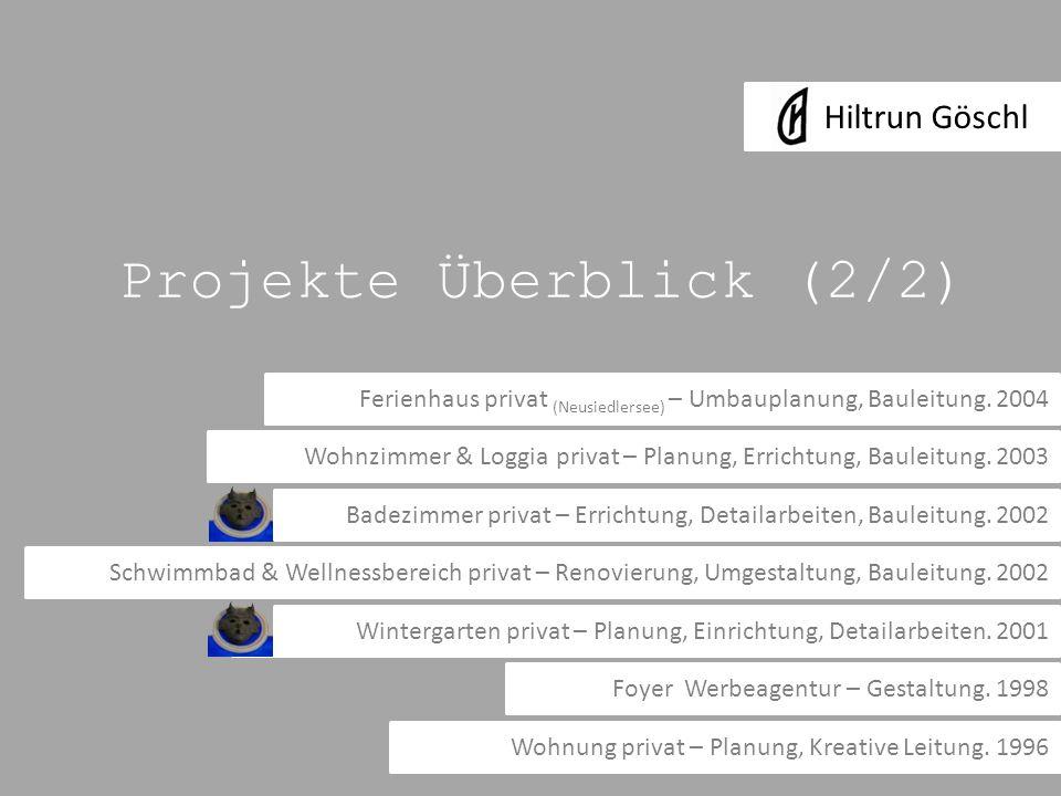 Projekte Überblick (2/2)