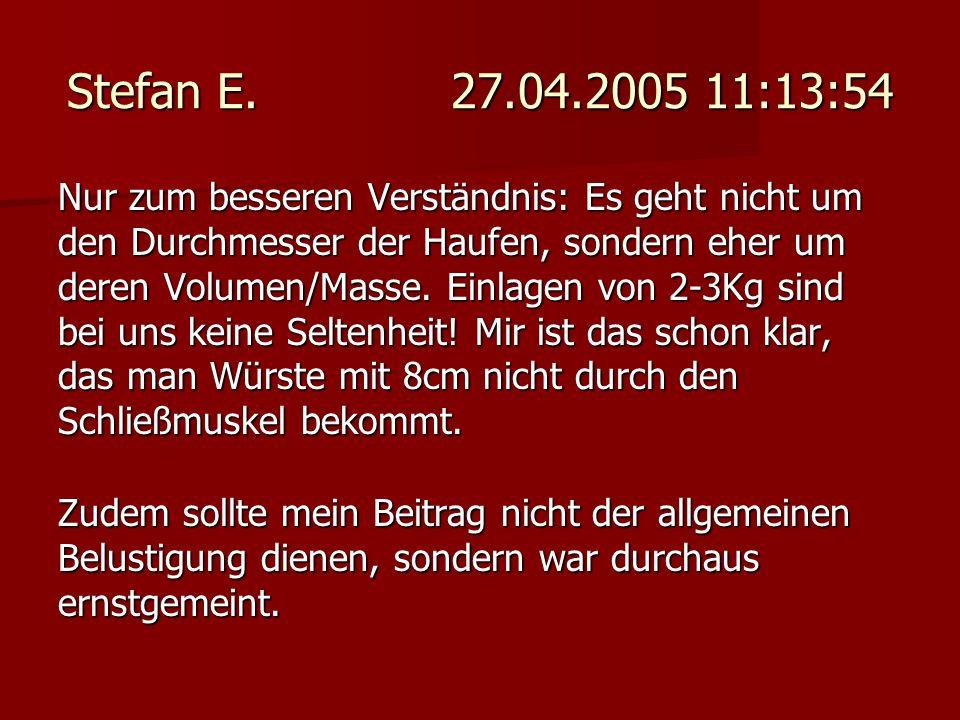 Stefan E. 27.04.2005 11:13:54