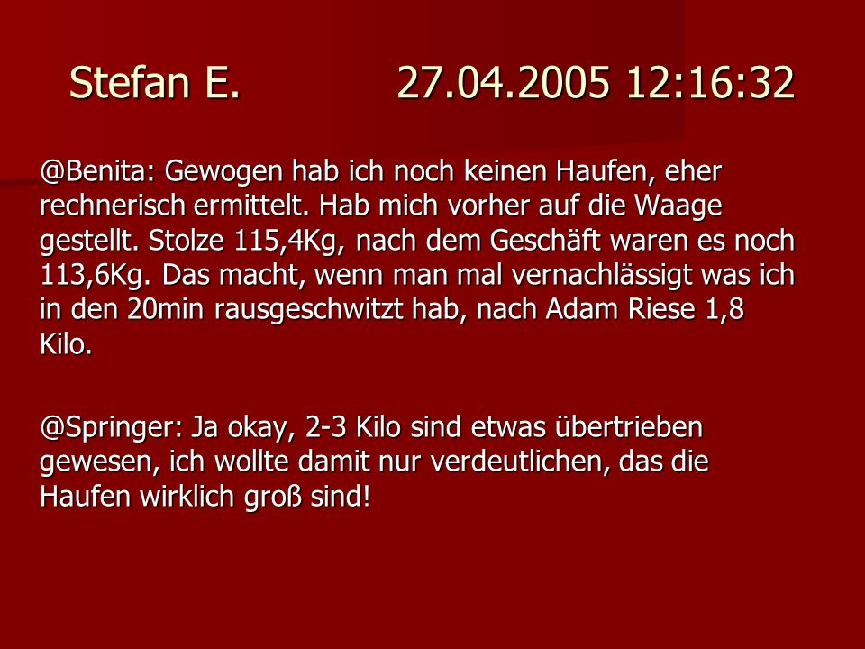 Stefan E. 27.04.2005 12:16:32
