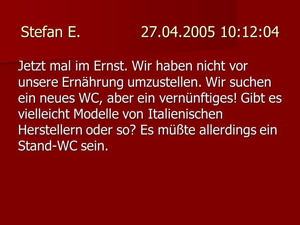 Stefan E. 27.04.2005 10:12:04