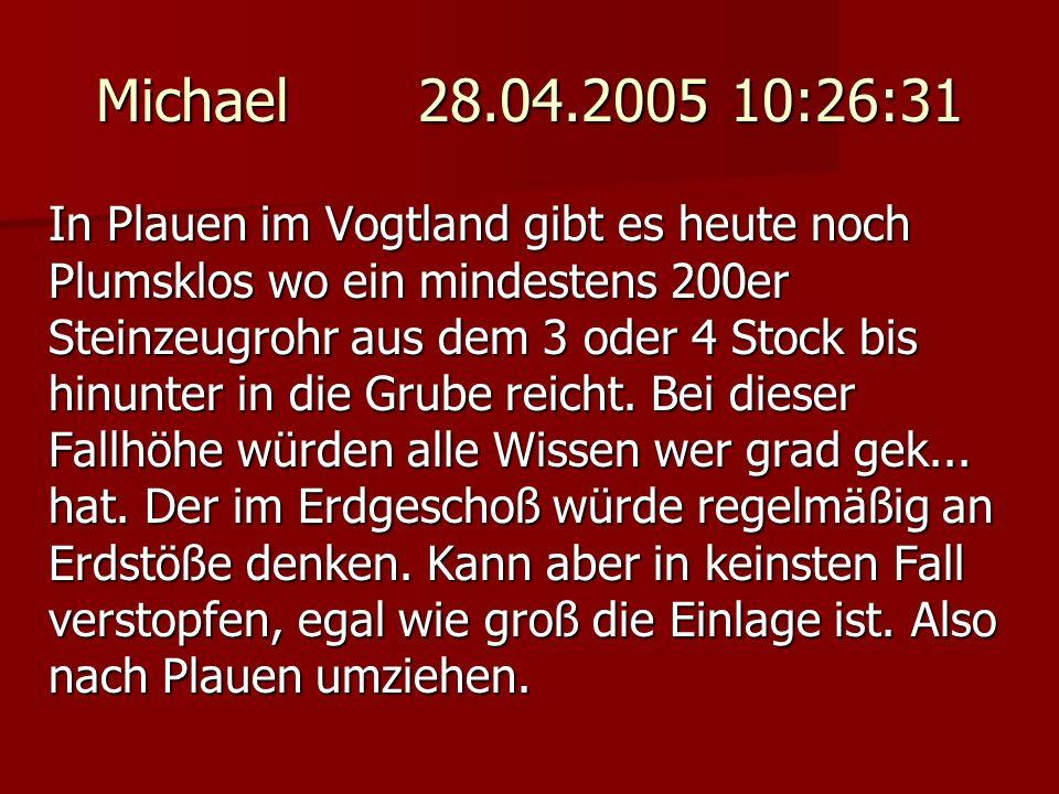 Michael 28.04.2005 10:26:31