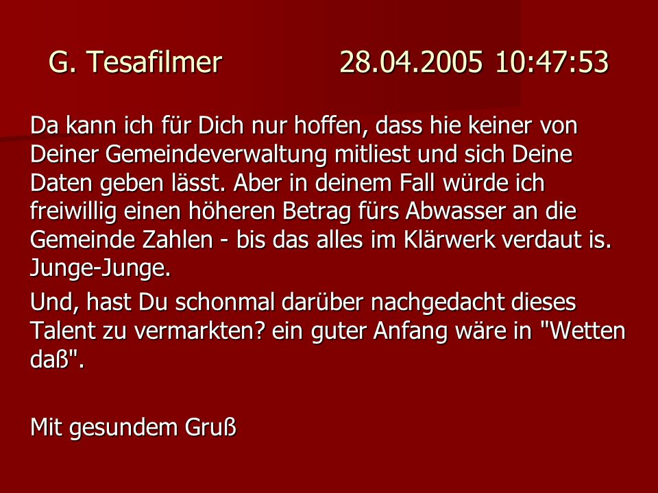 G. Tesafilmer 28.04.2005 10:47:53