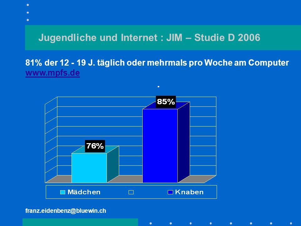 Jugendliche und Internet : JIM – Studie D 2006