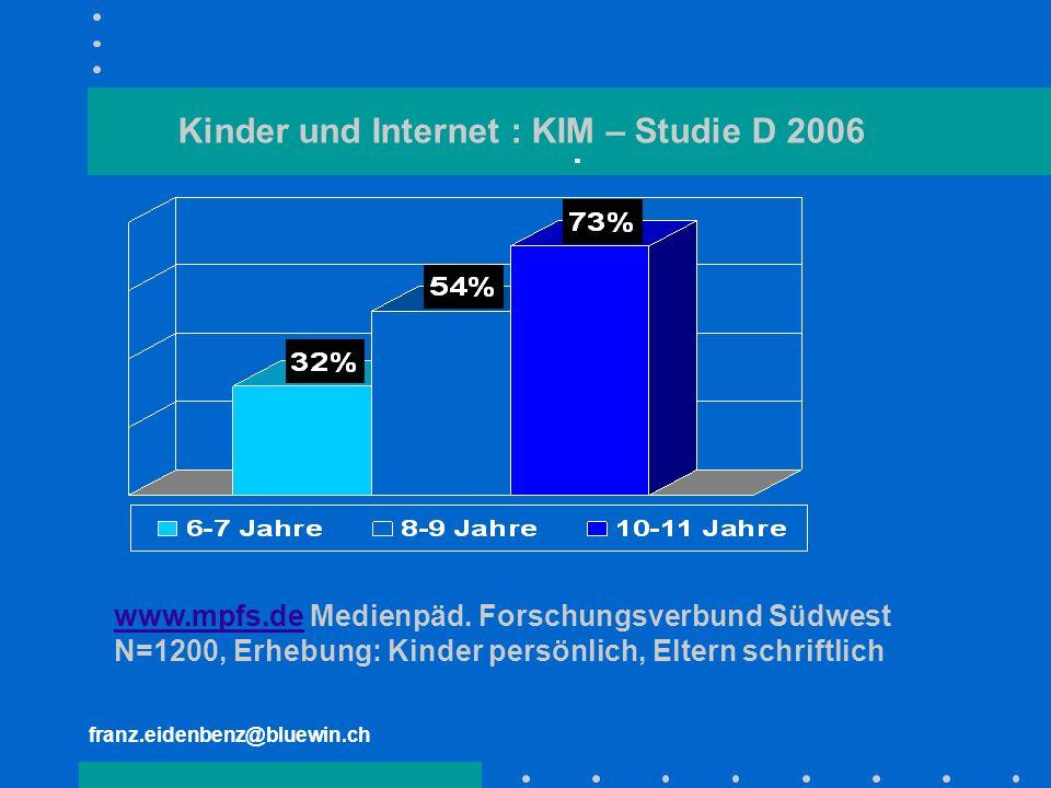 Kinder und Internet : KIM – Studie D 2006