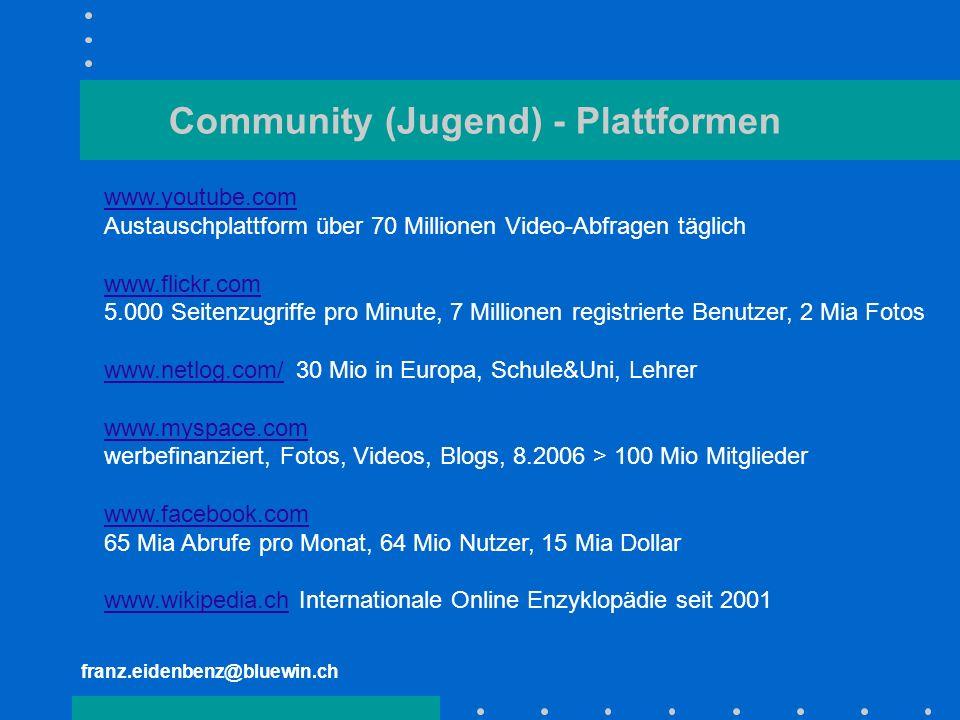Community (Jugend) - Plattformen