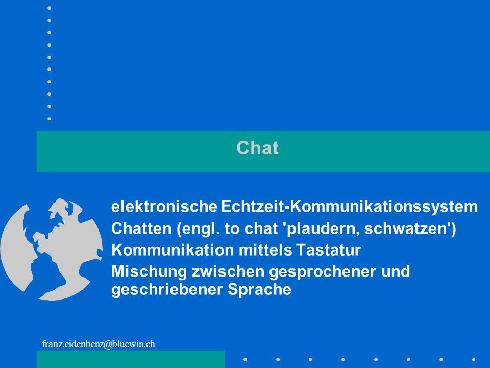 Chat elektronische Echtzeit-Kommunikationssystem