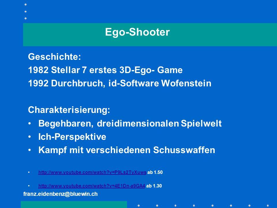 Ego-Shooter Geschichte: 1982 Stellar 7 erstes 3D-Ego- Game