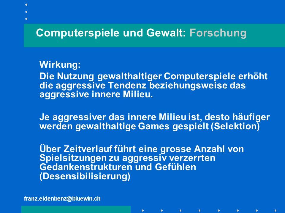 Computerspiele und Gewalt: Forschung