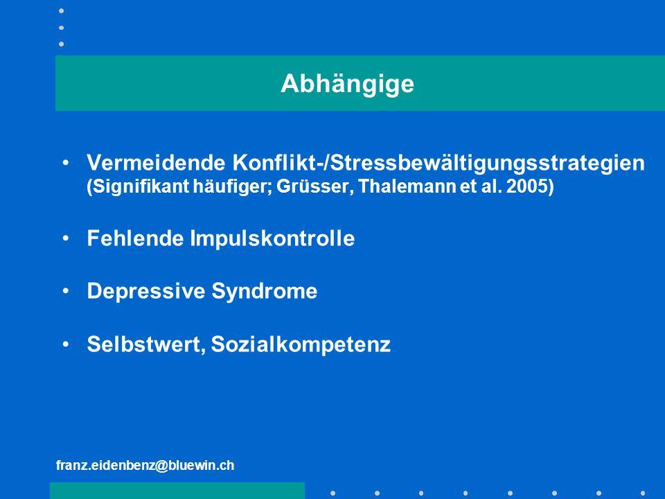 Abhängige Vermeidende Konflikt-/Stressbewältigungsstrategien