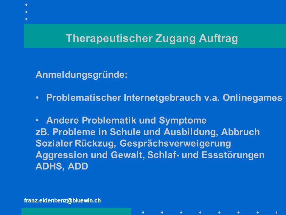 Therapeutischer Zugang Auftrag