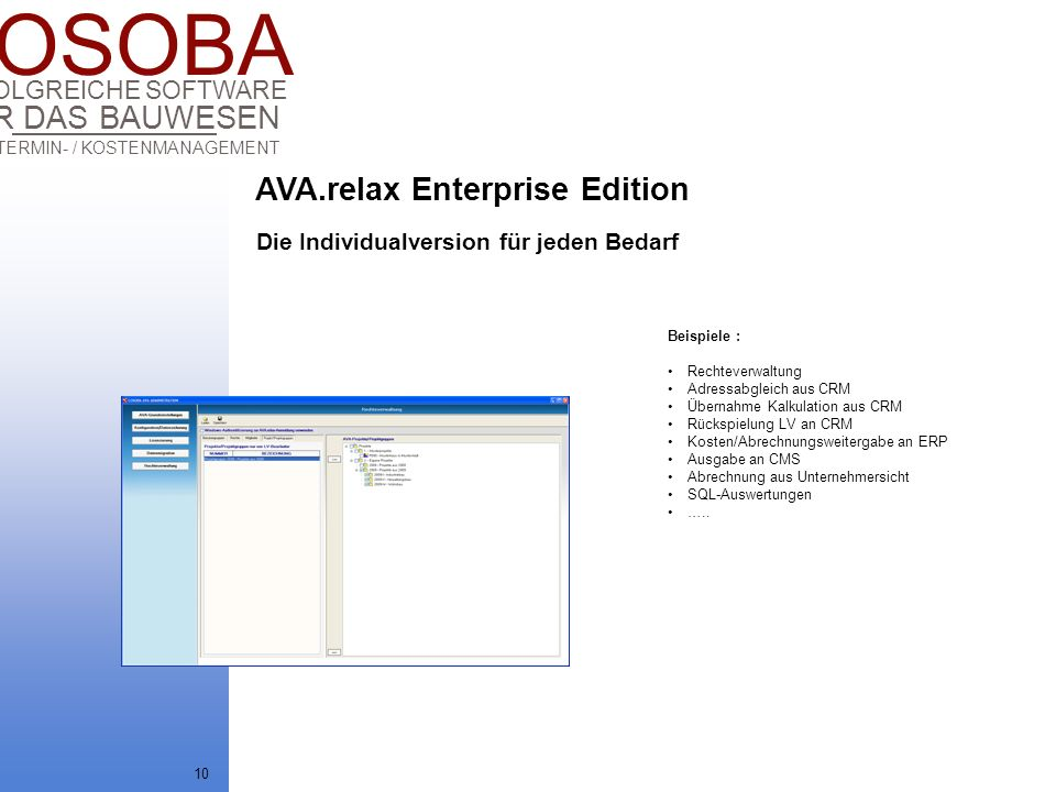 AVA.relax Enterprise Edition