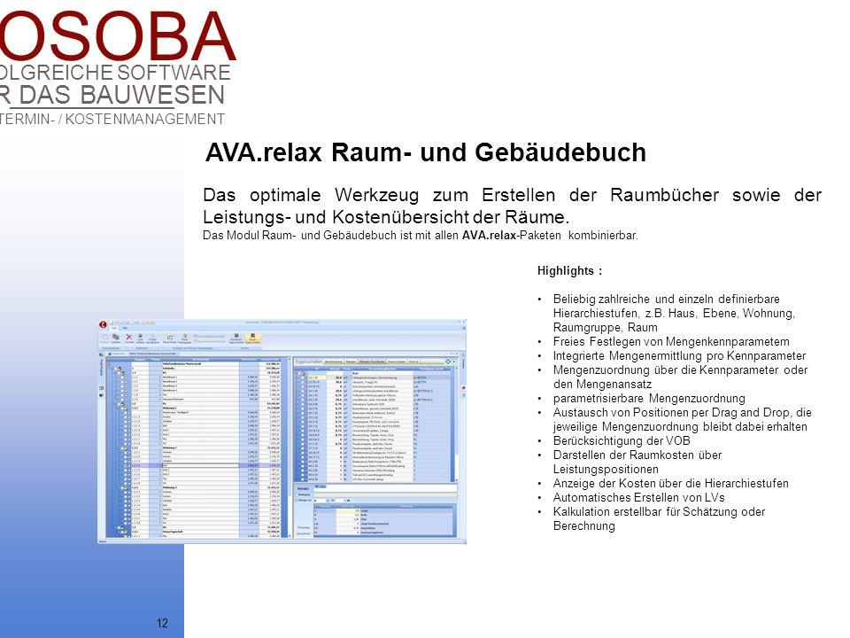 AVA.relax Raum- und Gebäudebuch